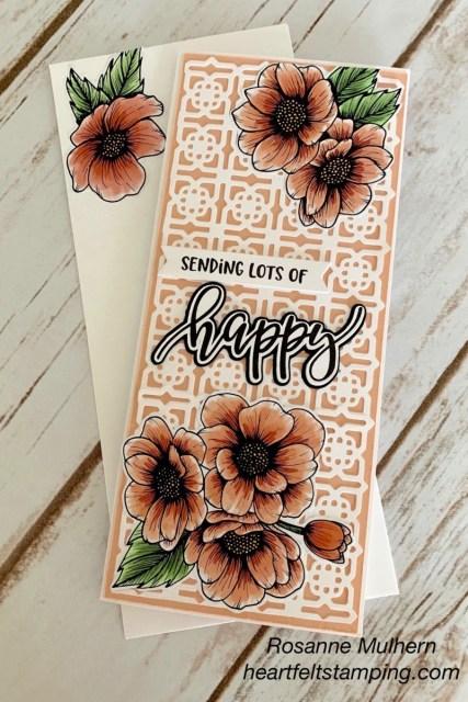 Stampin Up Pretty Pernennials Birthday Card - Rosanne Mulhern stampinup