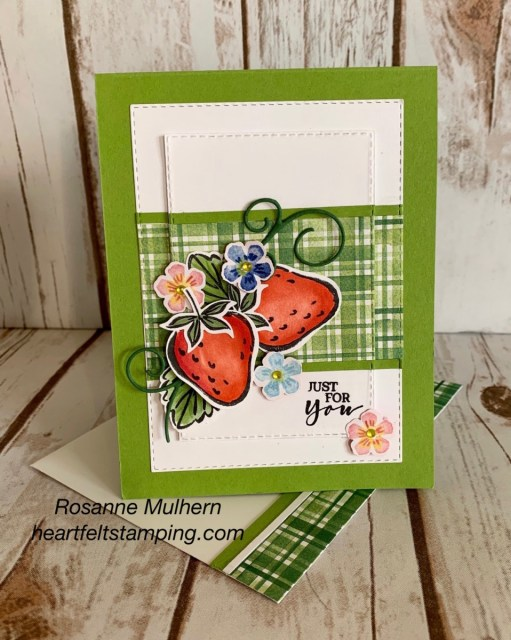 Stampin Up Sweet Strawberry All Occasion Card -Rosanne Mulhern stampinup