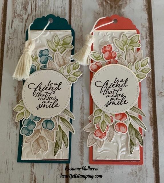 Stampin Up Forever Fern Friendship Bookmark Idea -Rosanne Mulhern stampinup