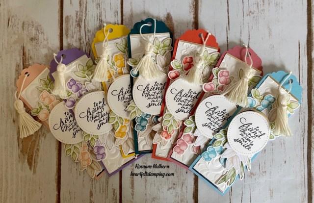 Stampin Up Forever Fern Friendship Bookmark Idea - Rosanne Mulhern stampinup
