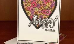 Stampin Up Pretty Perennial Birthday Card Idea - Rosanne Mulhern stampinup