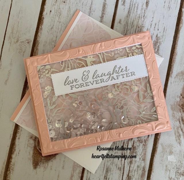 Stampin Up Anniversary Shaker Card -Rosanne Mulhern stampinup
