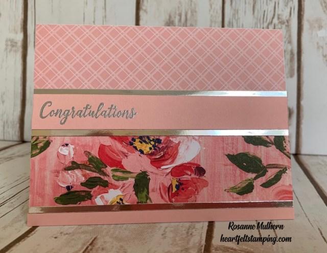 Stampin Up Fine Art Foral Congratulations Cards Idea-Rosanne Mulhern stampinup