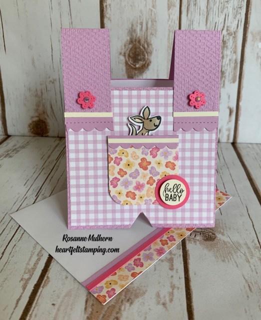 Stampin Up Kangaroo and Company Baby Card Idea - Rosanne Mulhern stampinup