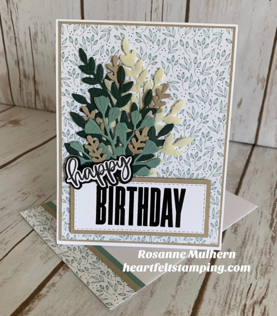 Stampin Up Biggest Wish Birthday Card Idea - Rosanne Mulhern stampinup