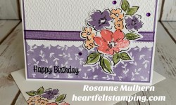 Stampin Up Hand Penned Petals Birthday Card Idea - Rosanne Mulhern stampinup