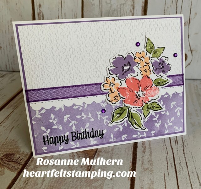 Stampin Up Hand Penned Petals Birthday Cards - Rosanne Mulhern stampinup