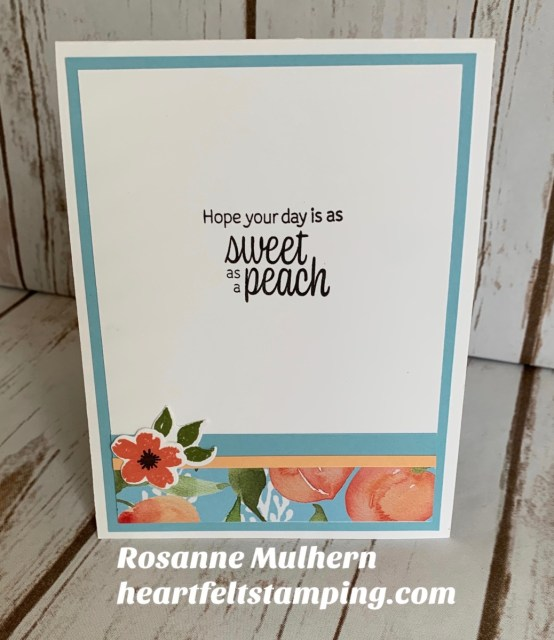 Stampin Up Sweet as a Peach Z Fold Gift Card Holder-Rosanne Mulhern stampinup
