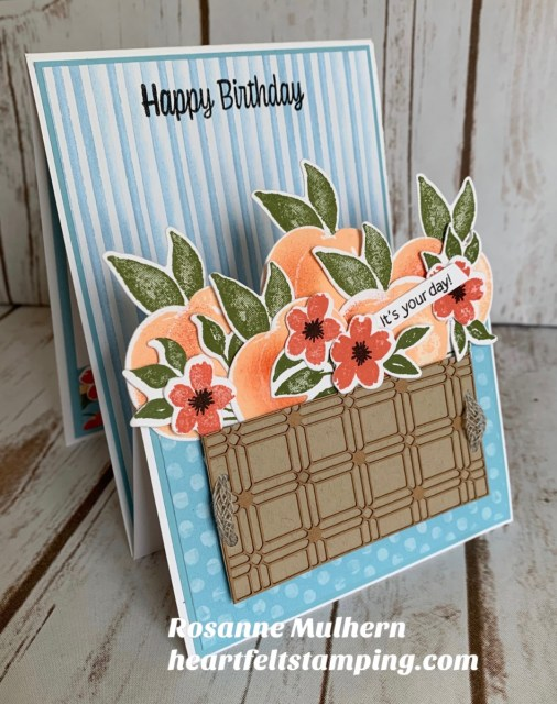 Stampin Up Sweet as a Peach Z Fold Gift Card Holder - Rosanne Mulhern stampinup