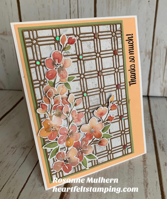 Stampin Up You're a Peach Thank You Card Idea -Rosanne Mulhern stampinup