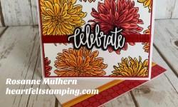 Stampin' Up! Delicate Dahlia Celebrate Card - Rosanne Mulhern