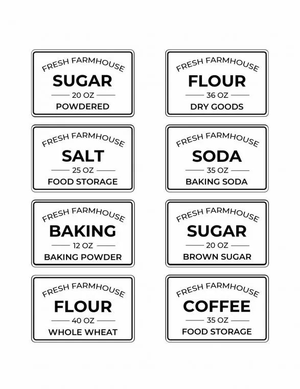 Free Editable Printable Kitchen Pantry Labels For Storage Containers Heart Filled Spaces