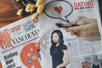 Featured on Front Page of The Vancouver Sun - Heart Hackers Club -  - Magazine