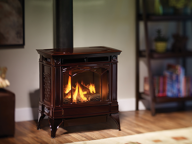 Fireplace Gas Fireplace Cost To Convert High Efficiency Wood Hampton H35 High Efficient Gas Stove - Fireplace Products