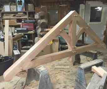assembling trusses in the shop