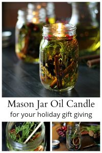 Make a Mason Jar Oil Candle Lamp