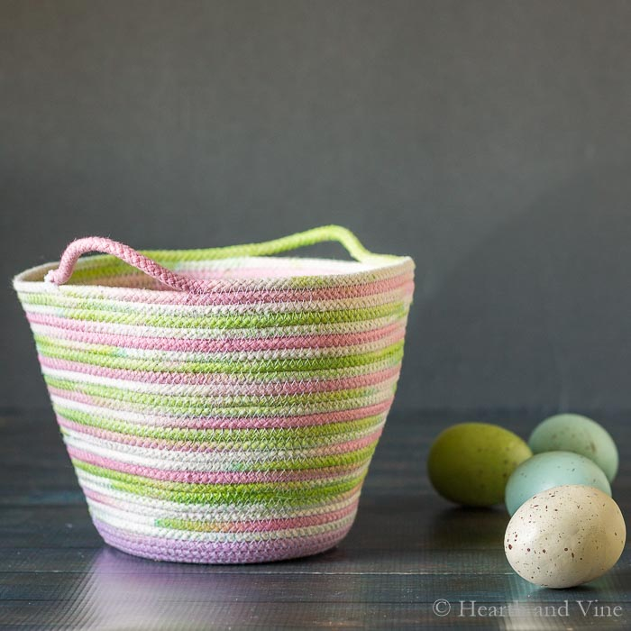 Tutorial: Dyed rope basket for spring