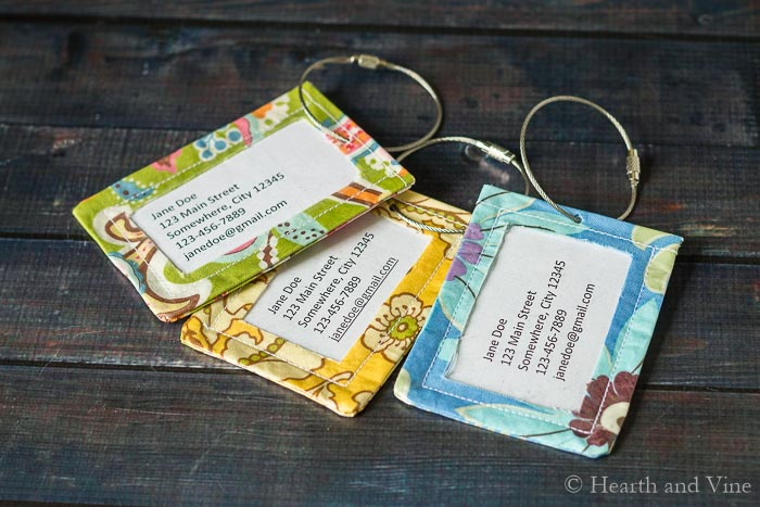 Tutorial: DIY Luggage Tags