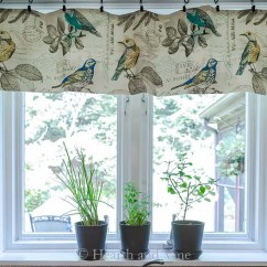 Kitchen Window Valance Cabinets Color Combination How To Make A In Under An Hour
