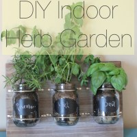 Plant An Indoor Herb Garden Using Mason Jars
