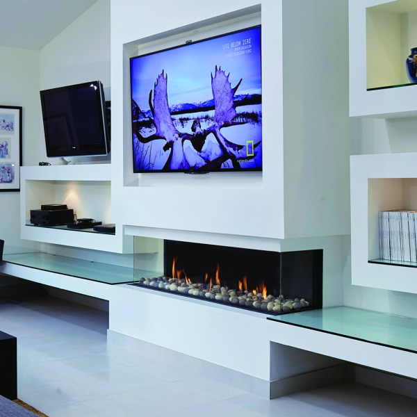 170 Three Sided Ortal gas Fireplace by Hearth Manor Fireplaces