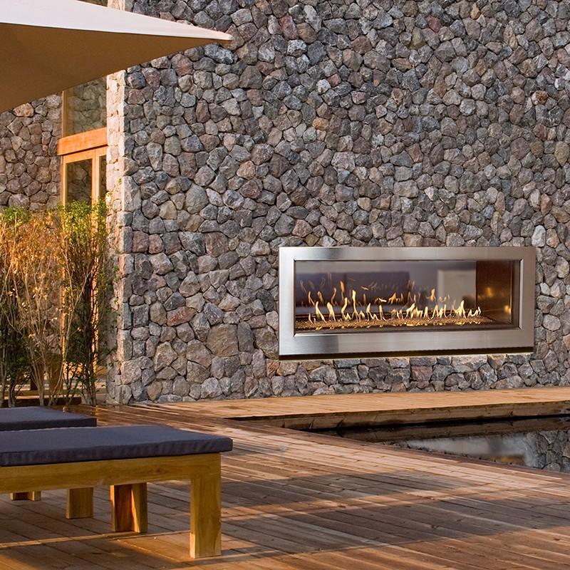 WS54ST indoor outdoor see thru gas fireplace