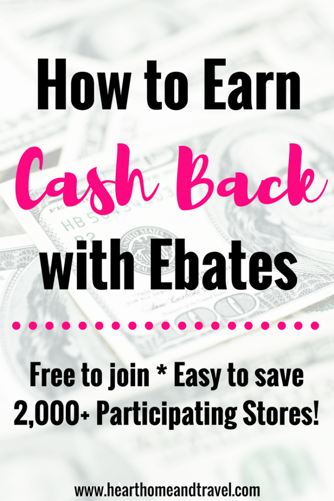How to Earn Cash Back with Ebates