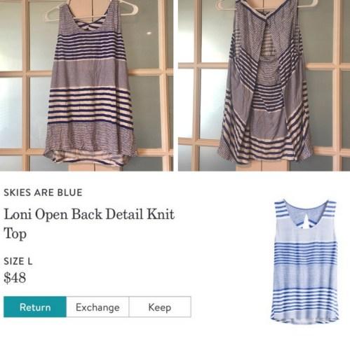 Loni Open Back Detail Knit Top