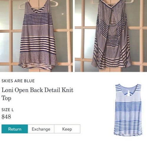 Loni Open Back Detail Knit Top