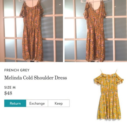 Melinda Cold Shoulder Dress