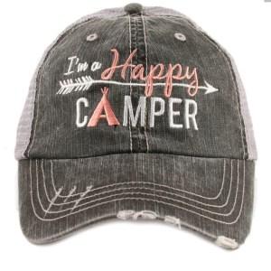 I'm a happy camper trucker hat