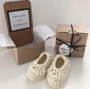 Latte Baby Booties Pregnancy Announcement, custom, new baby, Baby annoucement