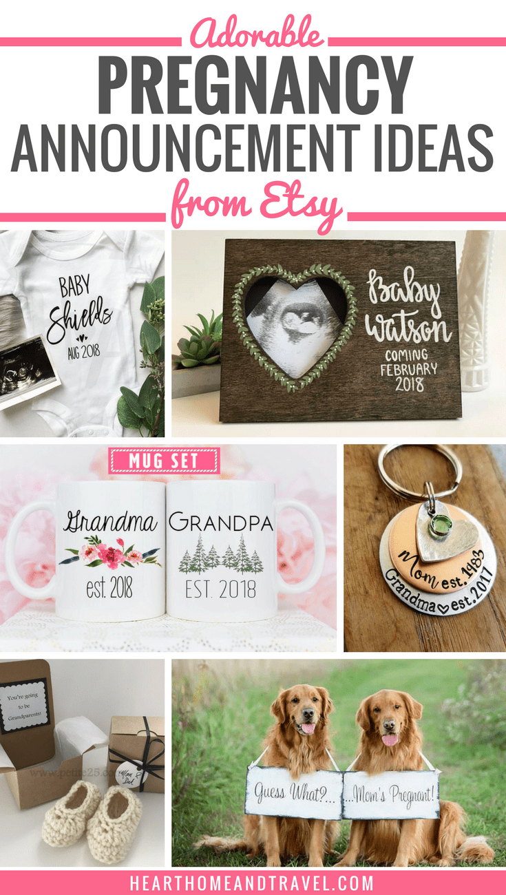 Are you looking for fun ways to reveal that you're expecting to your husband, parents, family, or friends?  Check out this list of 10 adorable pregnancy announcement ideas, perfect for sharing your exciting news!