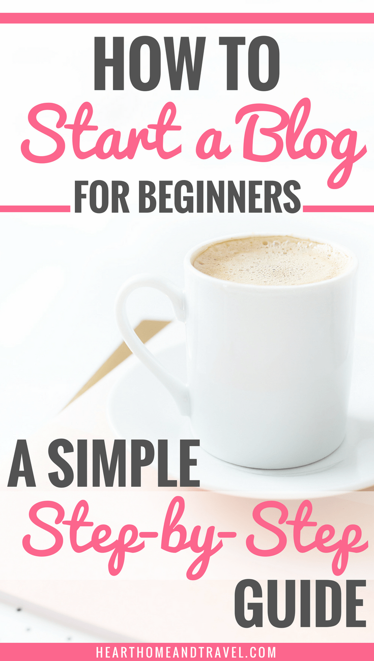 Are you thinking about starting a blog?  Check out this simple step-by-step guide that will help you start a blog today!  Perfect for beginners!