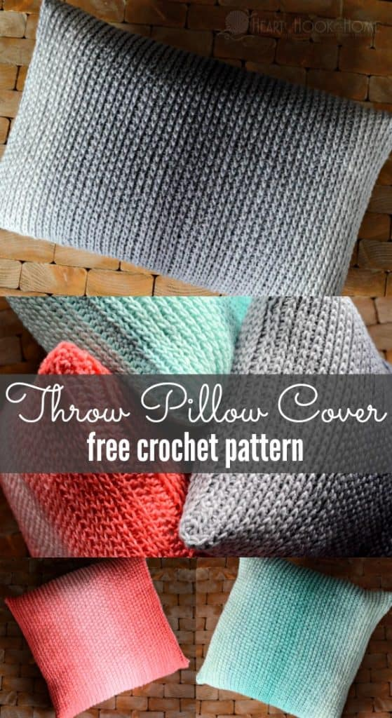 throw pillow cover free crochet pattern