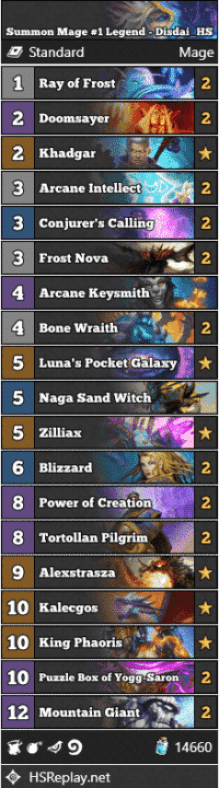 Summon Mage #1 Legend - Disdai_HS