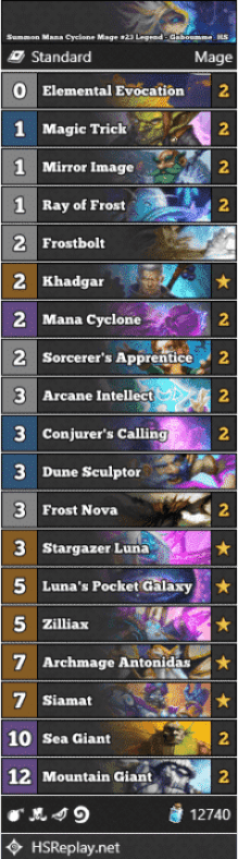 Summon Mana Cyclone Mage #23 Legend - Gaboumme_HS