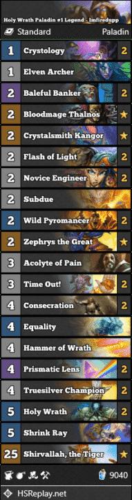 Holy Wrath Paladin #1 Legend - Imfiredupp