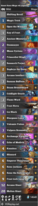 Quest Reno Mage #6 Legend - 合纵连横