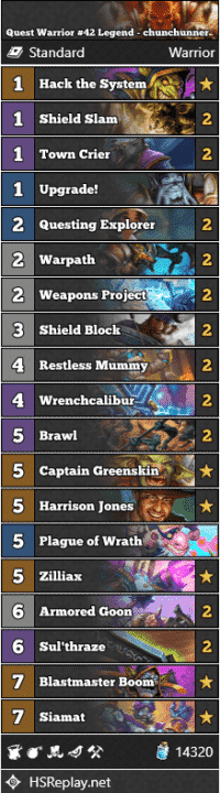 Quest Warrior #42 Legend - chunchunner