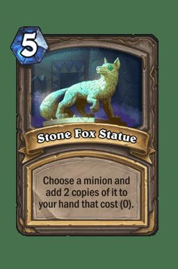 Stone Fox Statue
