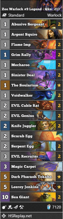 Zoo Warlock #9 Legend - Qkn_213