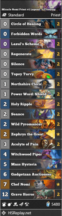 Miracle Nomi Priest #1 Legend - LFYueying