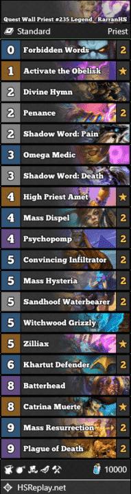 Quest Wall Priest #235 Legend - RarranHS