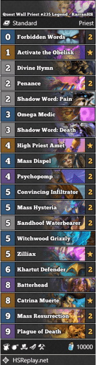 Quest Wall Priest #235 Legend - RarranHS