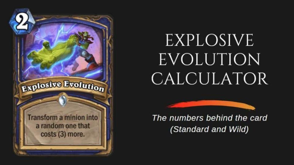 Explosive Evolution Calculator