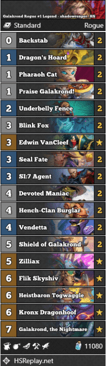 Galakrond Rogue #1 Legend - shadowreaper_HS