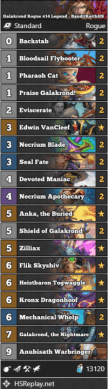 Galakrond Rogue #14 Legend - BanditKeithHS