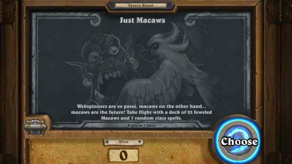 Tavern Brawl: Just Macaws