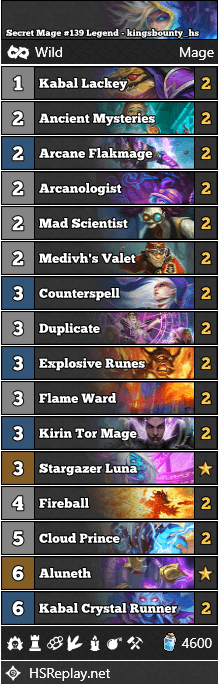 Secret Mage #139 Legend - kingsbounty_hs
